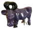 Ceramic Purple Cow
